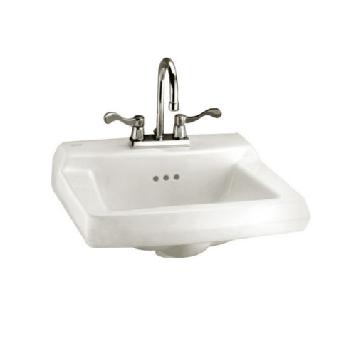 American Standard 0124.131.020 Comrade Wall Mount Porcelain Bathroom Sink White