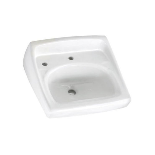 American Standard 0356.115.020 Lucerne Wall Mount Porcelain Bathroom Sink White