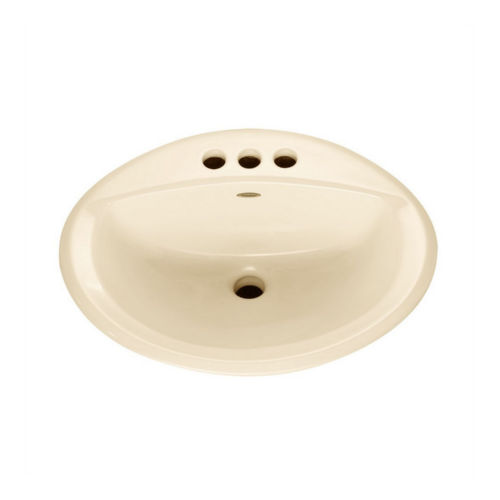 American Standard 0476.028.021 Aqualyn Drop In Porcelain Bathroom Sink Bone