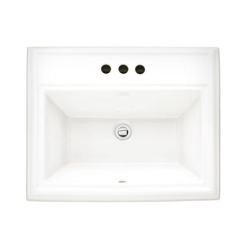 American Standard 0700.004.020 Town Square Drop In Fireclay Bathroom Sink White