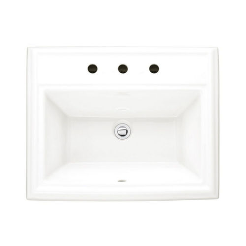 American Standard 0700.008.020 Town Square Drop In Fireclay Bathroom Sink White