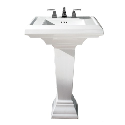 American Standard 0790.400.020 Town Square Pedestal Fireclay Bathroom Sink White
