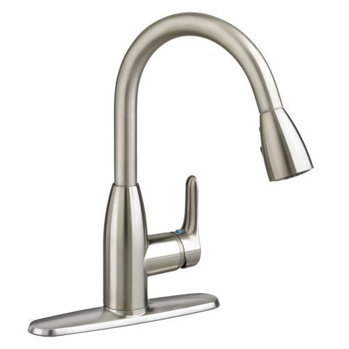 American Standard 4175.300.075 Colony Pullout Spray Single Hole Kitchen Faucet 4175300.075 Stainless Steel