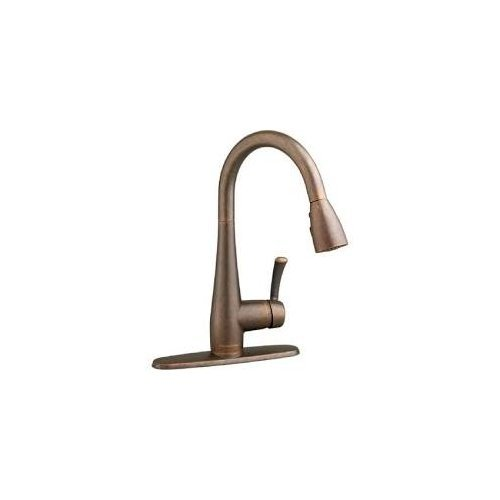 American Standard 4433.300.224 Quince Pullout Spray Single Hole Kitchen Faucet 4433300.224 Oil Rubbed Bronze