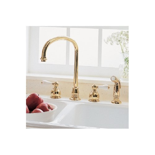 American Standard 4751.732.224 Hampton Widespread Kitchen Faucet 4751732.224 Oil Rubbed Bronze With Sidespray