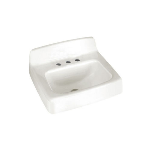 American Standard 4869.008.020 Commercial Wall Mount Iron Bathroom Sink White