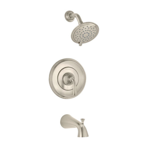 American Standard T106.508.295 Romantic Tub and Shower Faucet Brushed Nickel