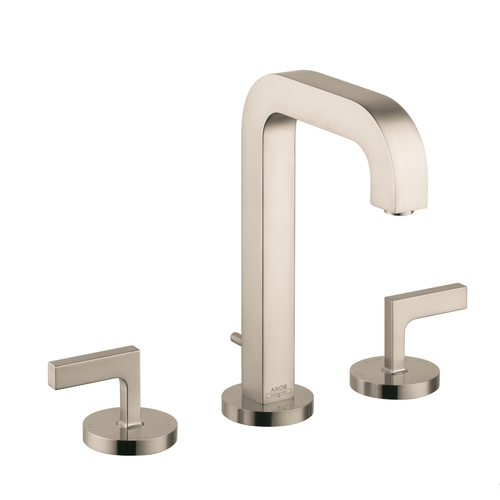 Hansgrohe 39135821 Axor Citterio Widespread Bathroom Faucet Brushed Nickel