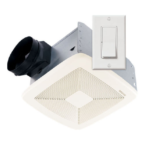 Broan NuTone SSQTXE110 110 CFM Ceiling Mounted Bath Ventilation Fan