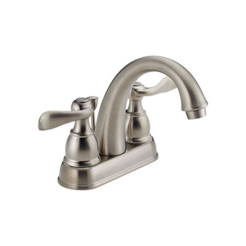 Delta B2596LF-SS Foundations Two Handle Centerset Lavatory Faucet B2596LFSS