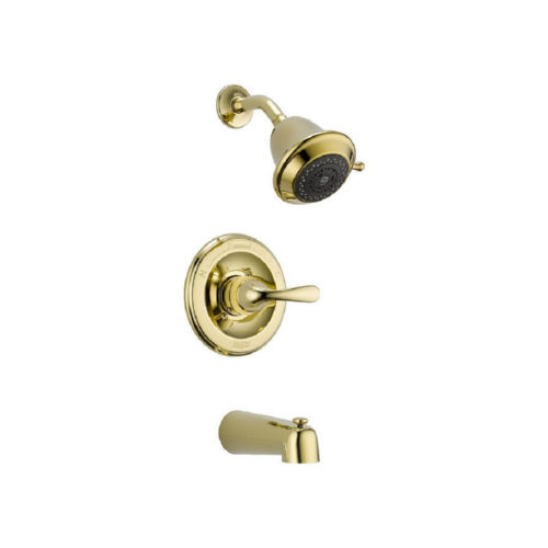 Delta T13420-PBSHCCER Tub and Shower Faucet Polished Brass