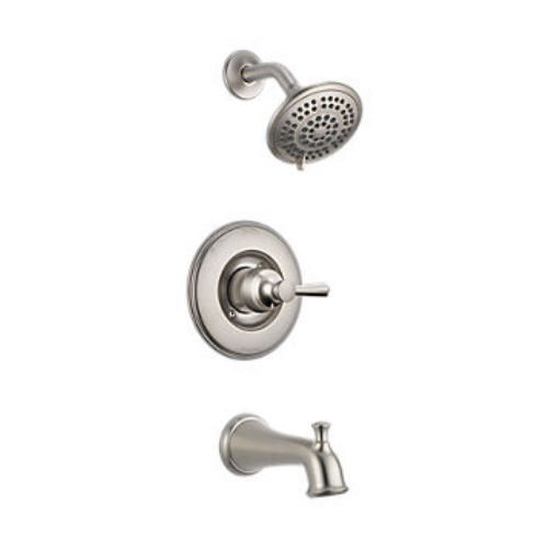 Delta T14493 Linden Tub And Shower Faucet -SS Stainless