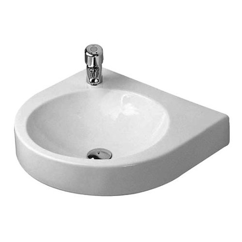 Duravit 0449580000 Architec Wall Mount Porcelain Bathroom Sink White Alpin