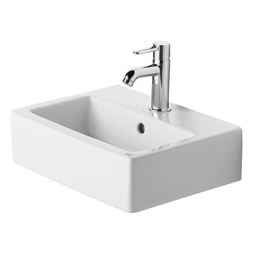 Duravit 07044500001 Vero Wall Mount Porcelain Bathroom Sink White Alpin