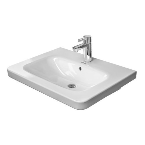 Duravit 2320650030 DuraStyle Drop In Porcelain Bathroom Sink White Alpin