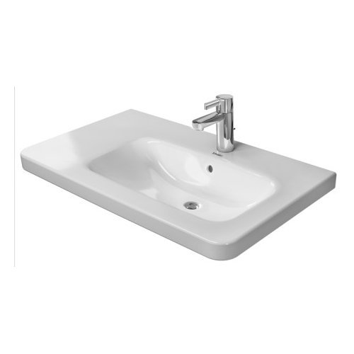 Duravit 23268000001 DuraStyle Drop In Porcelain Bathroom Sink White Alpin