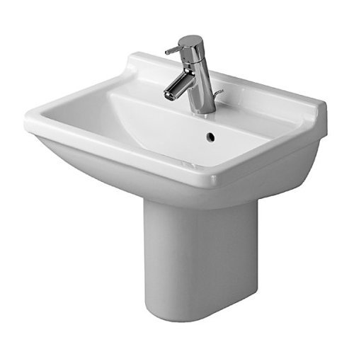Duravit D1900700 Starck Wall Mount Porcelain Bathroom Sink White Alpin