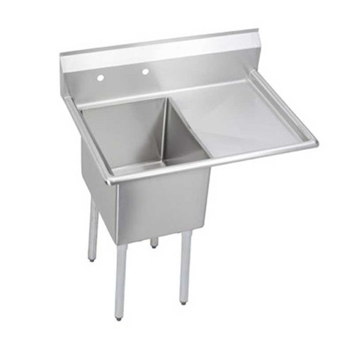 Elkay E1C24X24-R-24X Economy Freestanding Steel Kitchen Sink