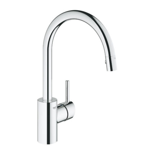Grohe 32665001 Concetto Single Hole Kitchen Faucet Starlight Chrome