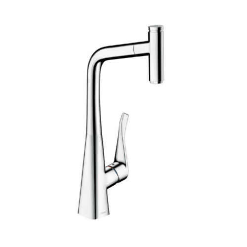 Hansgrohe 14848001 Metris Pullout Spray Single Hole Kitchen Faucet Chrome