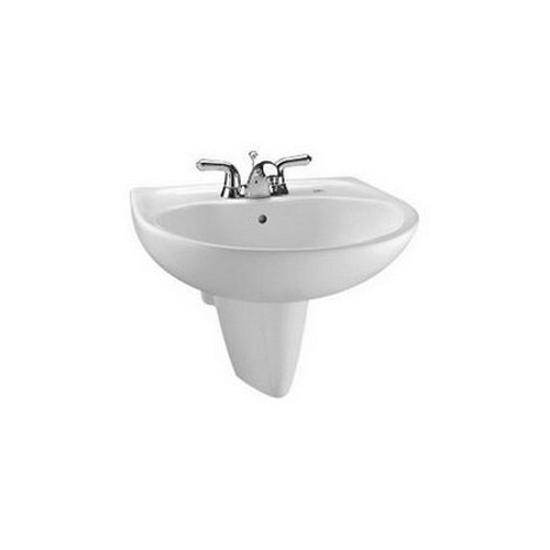 Toto LHT242.4G#01 Prominence Wall Mount Porcelain Bathroom Sink Cotton White