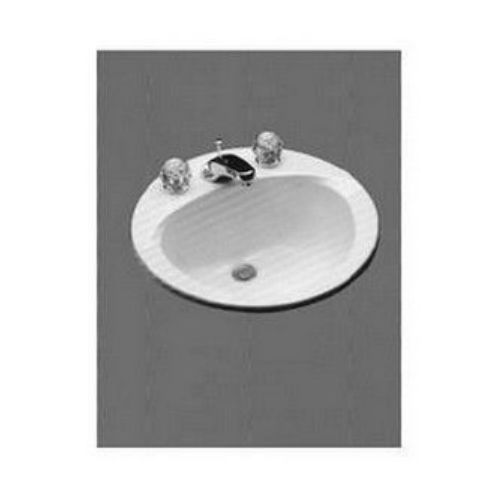 Toto LT502.8#01 Drop In Vitreous China Bathroom Sink Cotton White