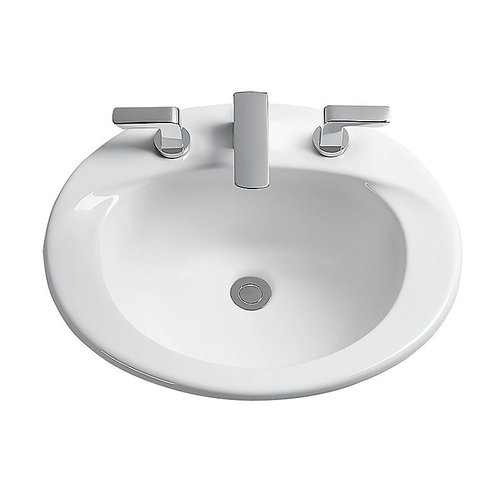 Toto LT511G#01 Supreme Drop In Vitreous China Bathroom Sink Cotton White