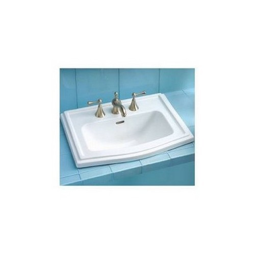 Toto LT781.4#01 Clayton Drop In Vitreous China Bathroom Sink Cotton White