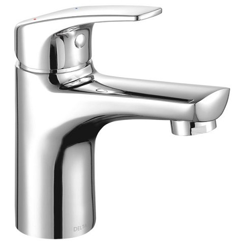 Delta 534lf Hgm Pp Modern Single Hole Bathroom Faucet Chrome