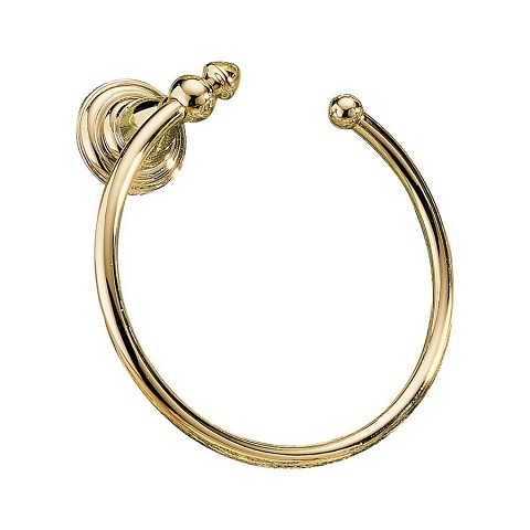 Delta 75046-PB Victorian Towel Ring Polished Brass