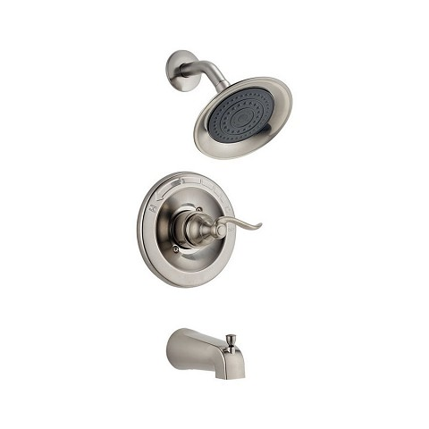 Delta BT14496-SS Windemere Tub and Shower Faucet Stainless