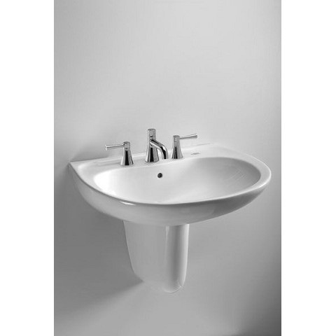 Toto LHT241.8G#01 Supreme Wall Mount Vitreous China Bathroom Sink Cotton White