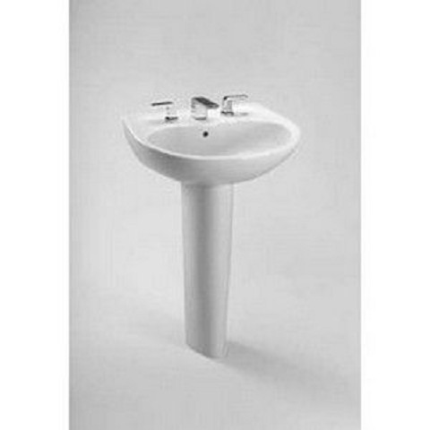 Toto LT241G#01 Supreme Wall Mount Porcelain Bathroom Sink Cotton White