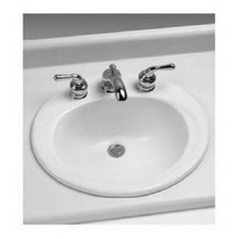 Toto LT401.8#01 Drop In Porcelain Bathroom Sink Cotton White