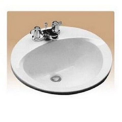 Toto LT502.4#01 Drop In Vitreous China Bathroom Sink Cotton White