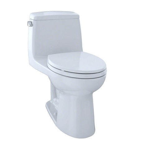Toto MS854114SG#01 Ultramax Elongated One Piece Toilet Cotton White