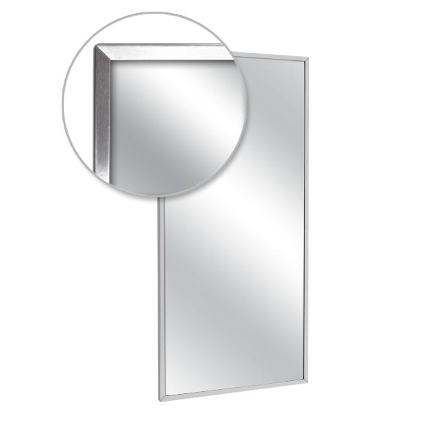 "AJW U711LG-4286 42"" x 86"" Channel Frame Mirror - Laminated Glass Surface"