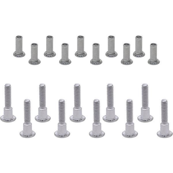 "Jacknob 529 Screw Pack - Continuous U-Bracket 1"" Stainless"