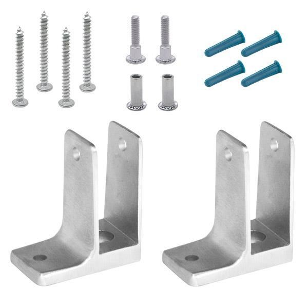 "Jacknob 15253 Pilaster Pack 1"" One Ear Stainless"