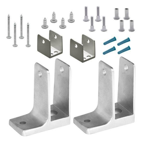 "Jacknob 15053 Panel Pack-End 1"" One Ear Stainless"