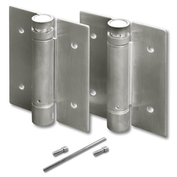 Jacknob 8649 Hinge-Set-Surface Mounted-Tension Spring 4 X 3/32 Ss-Satin