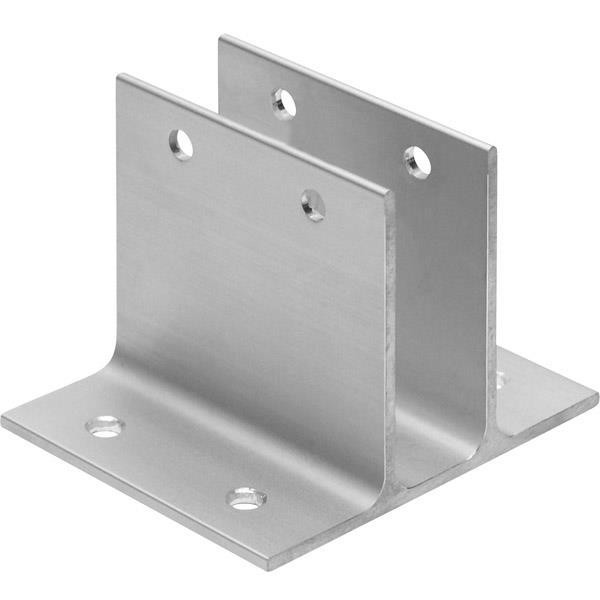 "Jacknob 2264 Wall Bracket Two Ear 1"" X 3"" Long-Aluminum"