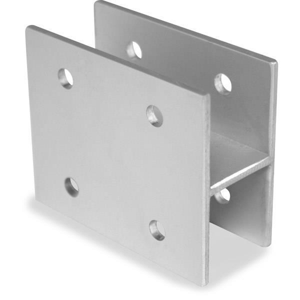 "Jacknob 1734 Wall Bracket H Type 1"" X 3"" Long-Aluminum"
