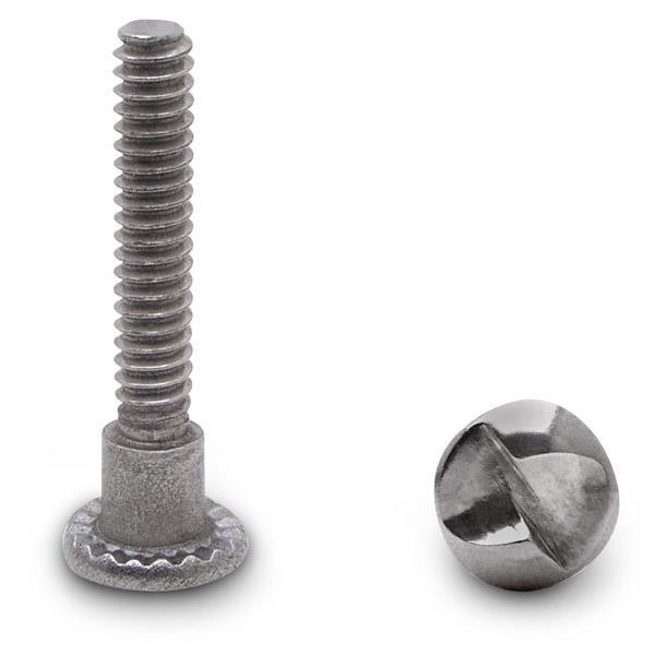 "Jacknob 9819 Shoulder Screw One Way 10-24 X 1-3/16"" Stainless"